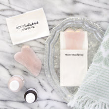 Load image into Gallery viewer, Rose Quartz Gua Sha Board with Comb Edge