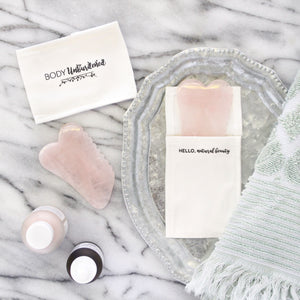 Rose Quartz Gua Sha Board with Comb Edge