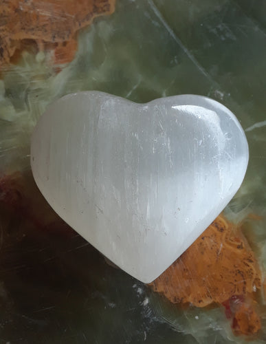 Selenite Heart Gemstone