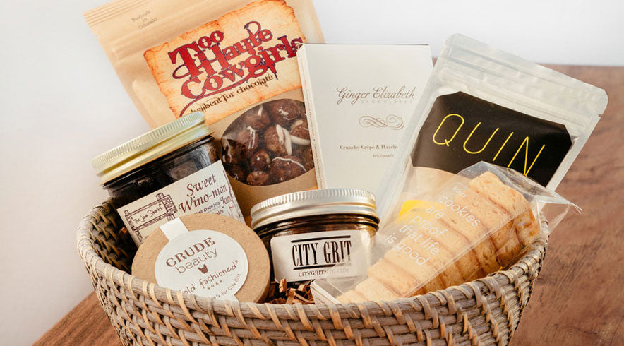 Williams-Sonoma gift basket curated by Sarah Simmons, named one of Food & Wine magazine's best chefs