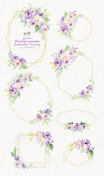 Blushed Lavender Watercolor Design Set