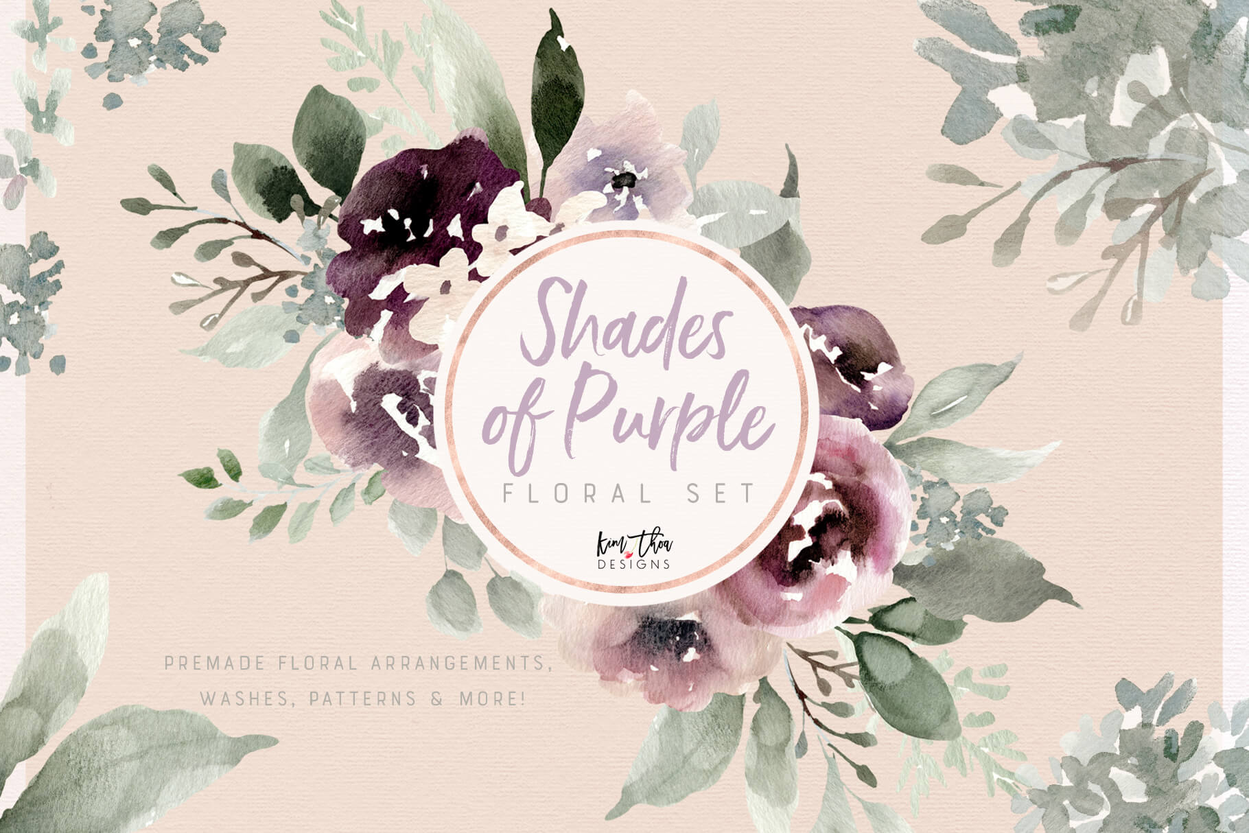 Shades of Purple Design Set