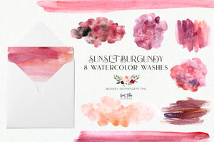 Sunset Burgundy Design Set