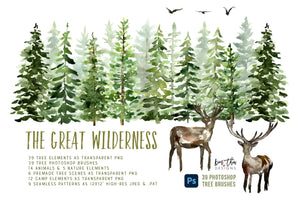 The Great Wilderness Watercolor Design Set