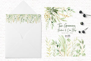 The Great Greenery Watercolor Design Set