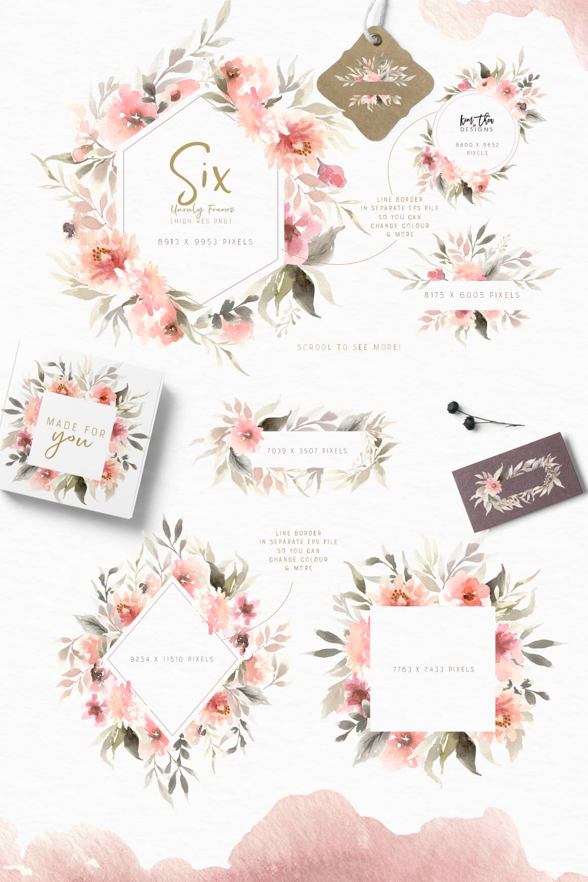 Unruly Watercolor Design Set