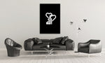 Black X White Allah Canvas Print - Alphaletta