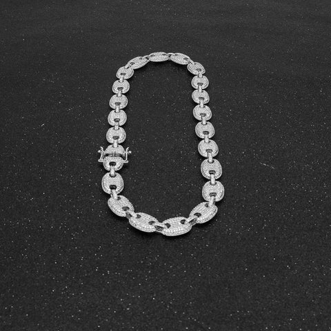 13mm Iced Stainless Steel Mariner Chain
