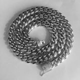 10mm/14mm Stainless Steel Cuban Chain with Iced Locking Clasp