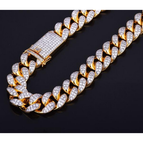 20mm Iced Cuban Chain