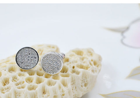 Iced Circular Micro-paved Earrings