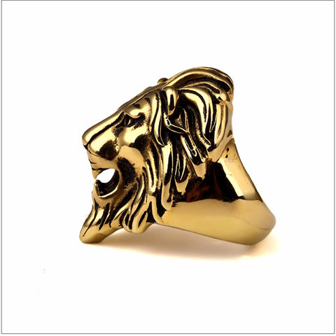 Large Lion Ring