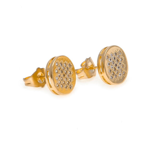Iced Round Micro-Paved Earrings