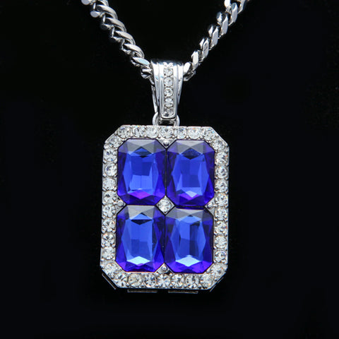 Iced Four-Jewelled Pendant