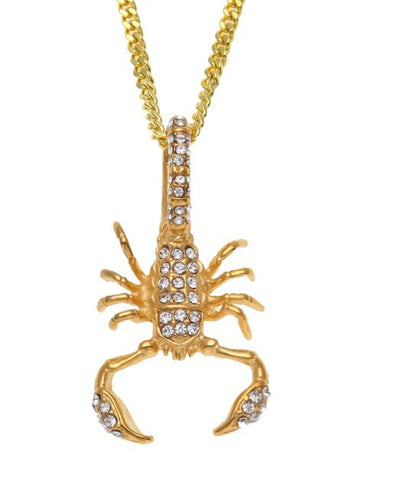 Iced Scorpion Pendant