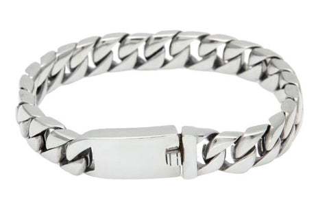 13mm Stainless Steel Cuban Bracelet With Face