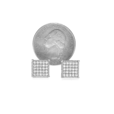 Iced 10mm Square Earrings