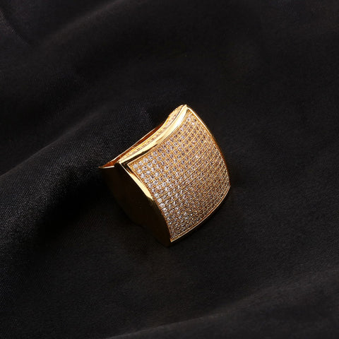 Iced Stainless Steel Stunna Ring