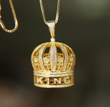 Iced King's Crown Pendant