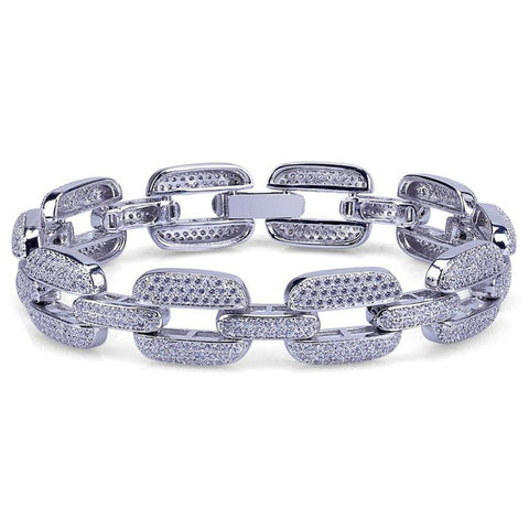 15mm Iced Anchor Bracelet