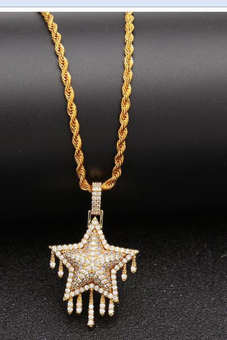 Iced Drippin' Star Pendant