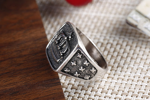 Vintage Silver Crown Ring