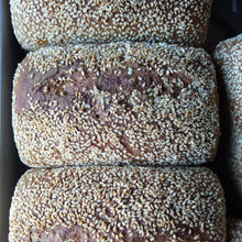 Load image into Gallery viewer, Organic Stoneground Ancient Grain Khorasan, Spelt and Sesame Loaf