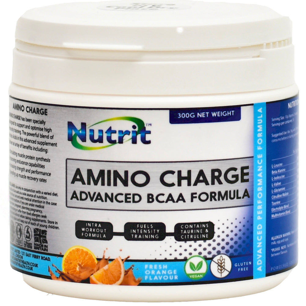 AMINO CHARGE – Advanced BCAA Formula - 30 Doses - Nutrithealth