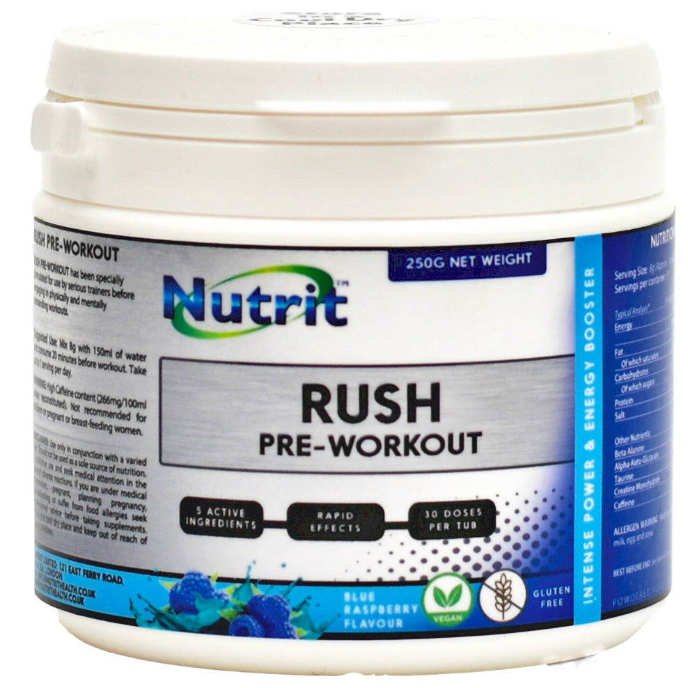 RUSH – Pre-Workout - Up to 60 Servings - Nutrithealth