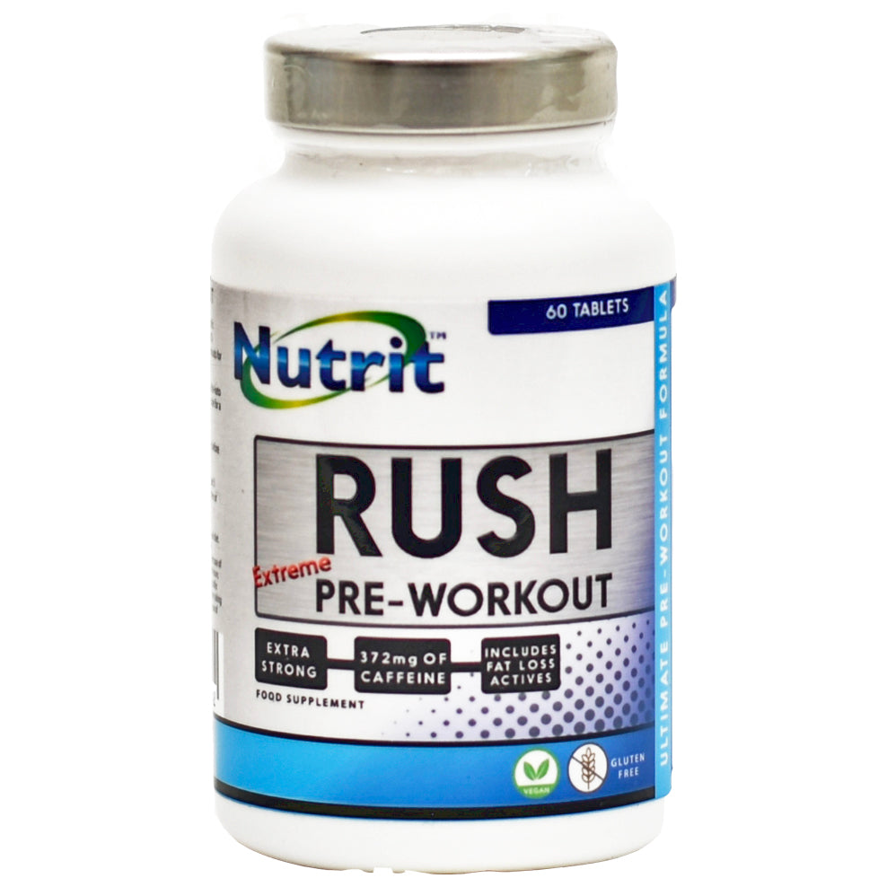 "RUSH – Pre-Workout ""Extreme"" - 20 Servings - Nutrithealth"