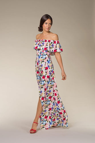 CARMEN Off-Shoulder Floral Maxi Dress
