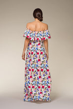 Load image into Gallery viewer, CARMEN Off-Shoulder Floral Maxi Dress