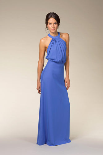 VALENTINA Backless Maxi Dress with Pearls