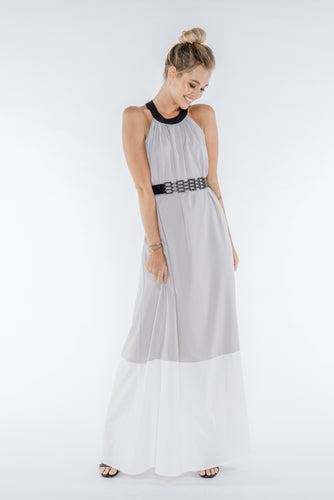 NALA Grey Colourblock Maxi Dress