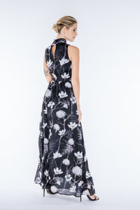 LARA High-Neck Maxi Dress
