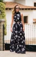 Load image into Gallery viewer, LARA High-Neck Maxi Dress