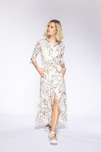 LISSIE Long Floral Shirt Dress