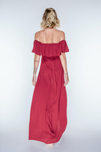 MARA Red Off-Shoulder Maxi Dress