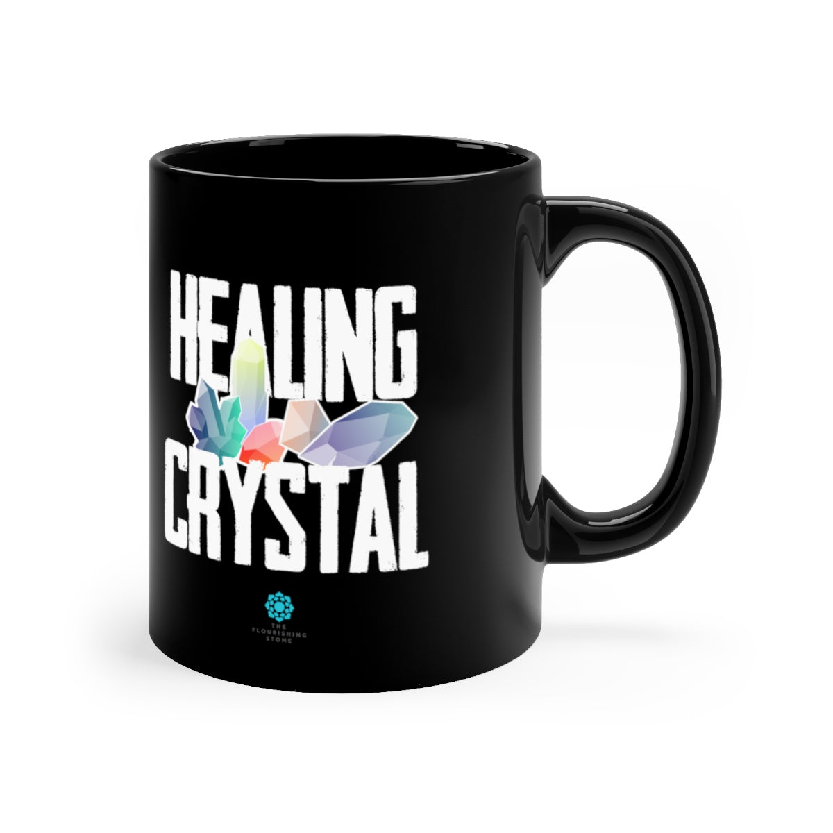 Healing Crystal Everyday Black mug