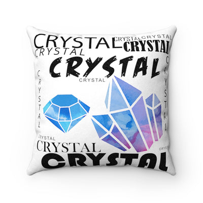 COOL CRYSTAL Faux Suede Square Pillow