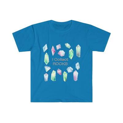 I Collect Rocks Crystals Toons Men's Fitted Short Sleeve Tee