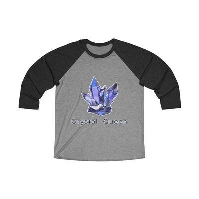 Crystal Queen Blue Unisex Tri-Blend 3/4 Raglan Tee
