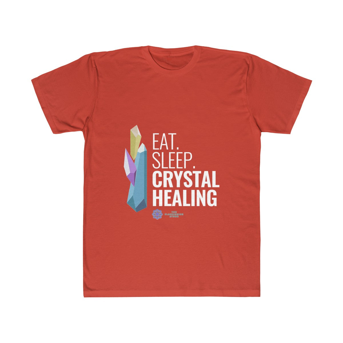 Eat Pray Healing Crystal Unisex Fitted Tee