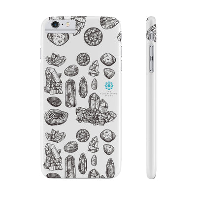 Black N White Crystals Case Mate Slim Phone Cases