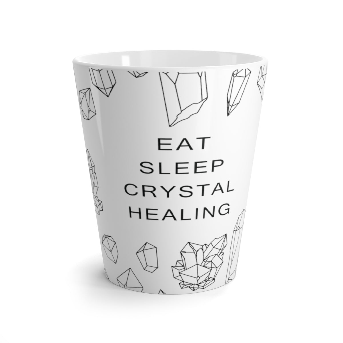 Many Crystal  Eat Sleep Healing Crystal Latte mug