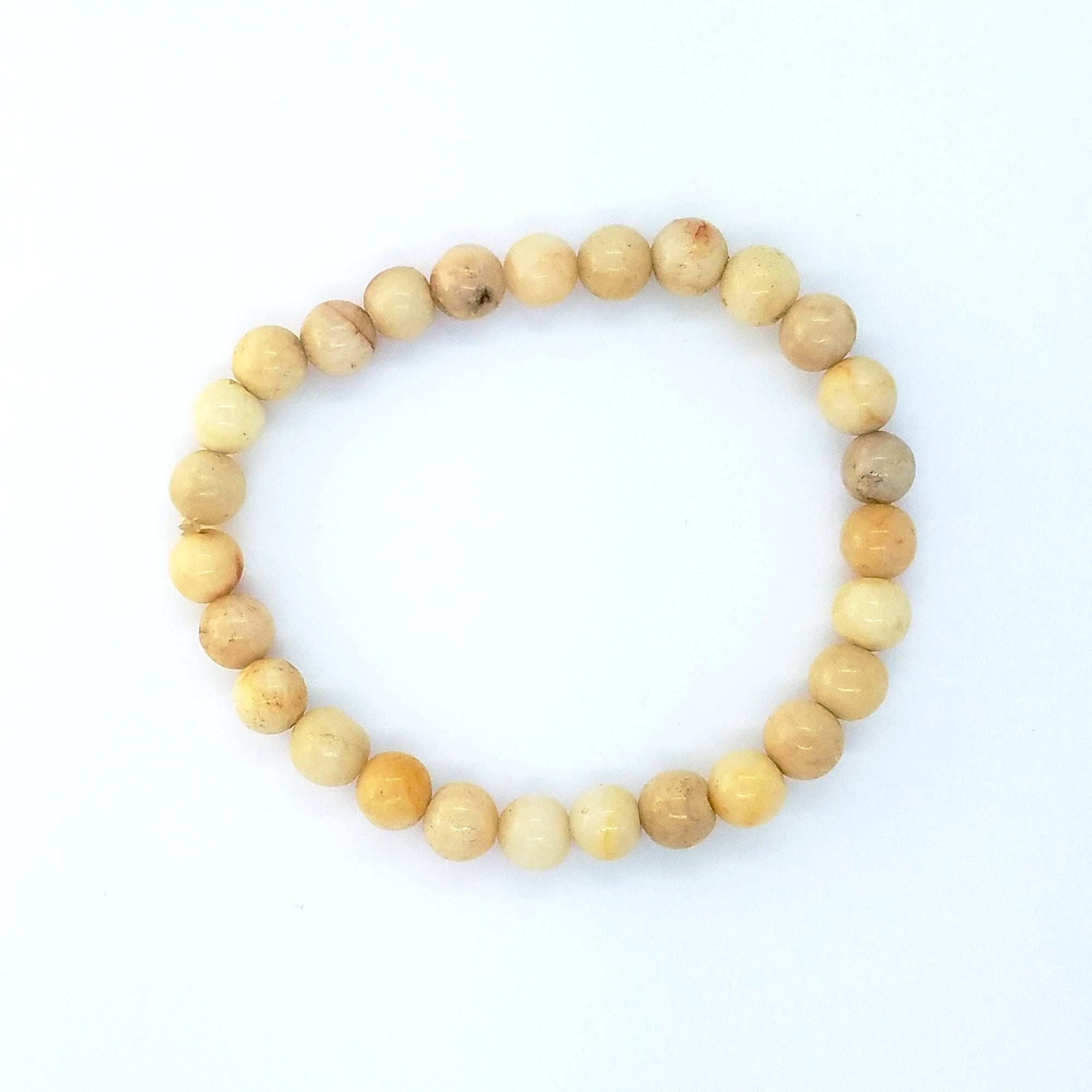Yellow Quartz Bead Bracelet