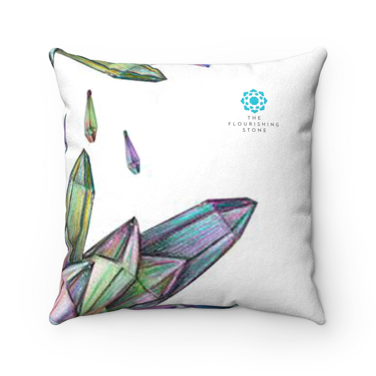 Crystals Faux Suede Square Pillow