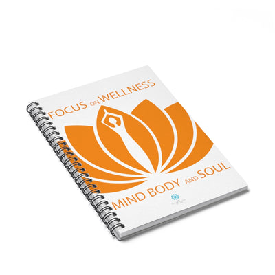 FOCUS ON WELLNESS Spiral Notebook - Ruled Line