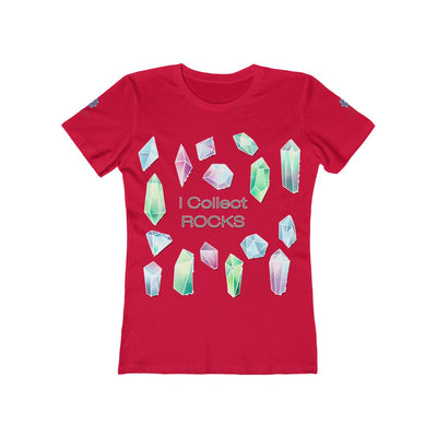 I Collect Rocks Crystals Toons Women's The Boyfriend Tee