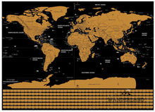 Load image into Gallery viewer, Scratch off world map poster